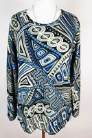 NEW WOMEN BLOUSE size  14/16  TOP  LONG SLEEVE  TUNIC  LADIES    3435
