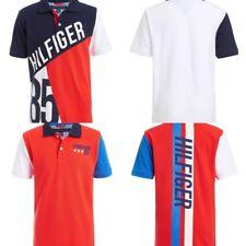 New Tommy Hilfiger Big Boys Colorblocked Logo Polo Shirt Sizes S-M-L
