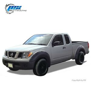 """Paintable Pop-Out Bolt Fender Flares Fits Nissan Frontier 06-20 ; 6'1"""" Bed Only"""