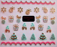 FdF 6113 Sticker adesivi natalizi per unghie manicure NATALE Christmas nail art