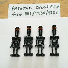 LEGO Star Wars ELITE ASSASSIN DROIDS MINIFIG LOT Of 4 black IG88 Mandalorian BBP