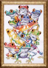 Design Works COUNTED Cross Stitch Kit #2599 - Frog Pile