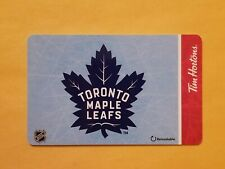 2019 Tim Hortons NHL Toronto Maple Leafs Empty Gift Card Reloadable