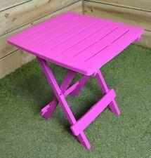 SupaGarden Plastic Folding Garden / Camping Table In Pink