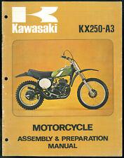 Manual KAWASAKI KX 250 A3 Assembly & Préparation 1975 - 1976 Manuel de Montage