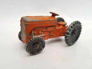Vintage Benbros Qualitoys Ferguson Tractor orange type 2 with black wheels