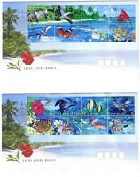 "1999 FDC x 3. Cocos Islands. Living Mosaic. Compass Pict.FDI  ""COCOS ISLANDS"""