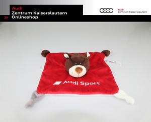Audi Sport Baby Schmusetuch Motorsportbär weiß, braun, rot 3201900800
