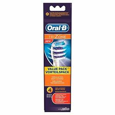 Braun Oral-B Trizone Replacement Toothbrush Heads 4 Pack. NEW GENUINE + FREE P&P