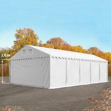Lagerzelt 5x10m Zelthalle mit Bodenrahmen Weidezelt XXL PVC Zelt weiß NEU
