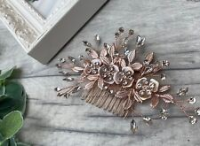 Stunning Rose Gold Bridal Hair Vine /hair Piece