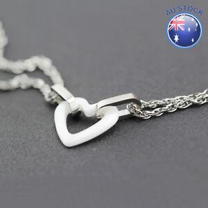 New Heart Bracelet Chain 18K White Gold Filled White Ceramic Love 19CM Gift
