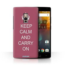Stuff4 Hülle/Case/Backcover für OnePlus 2/Two/Bleib Ruhig