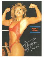 m865  Nina   Ivory 8x10 VERY SEXY Wrestling Photo w/COA  **BONUS**  HISTORY