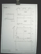 Dollhouse Plans: Georgian Double Fronted Shops front opening 1/12 scale A05