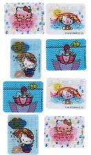 Sanrio Hello Kitty 8 Large Motion Flicker Stickers! Rain Rainbow Umbrella