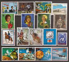 9T5 PARAGUAY 17 timbres oblitérés,personnages,espace,et divers