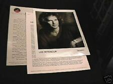 Lee Ritenour 8 X 10 Rare Vintage Photo Mint &Bio