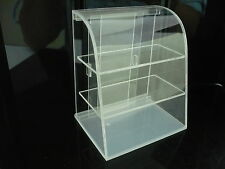 Clear Acrylic Table Top Display Unit Dollhouse Miniatures Suppy Deco