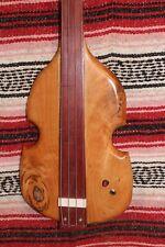"Bass Fretless 4 String Cherry Fiddle Wishbass Short Scale 28"" Piezo PU"