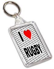 I Love Rugby Keyring - Gift - Birthday - Stocking Filler