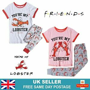 Womens Friends Pyjamas Sets | Official TV Show Lobster Pjs Christmas Gift