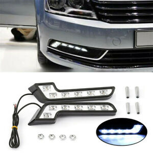 White 6LED Car Front Grille Mount Fog Light L Shaped Lamp SUV Accessory 1 Pair