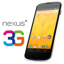 LG Nexus 4 E960 - 8GB - White (Unlocked) Smartphone 3G - Brand New in sealed Box