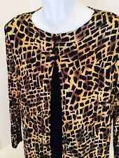 Cheetah leopard  print  blouse - Size 12 NEW  slinky stretchy Jessica Holbrook
