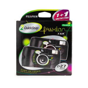 Fujifilm QuickSnap Twin Pack Disposable Camera Black Edition