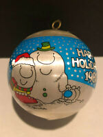 Ziggy Christmas Tree Ornament, Satin Ball, Tom Wilson, Love 1985 Ornament Hearts