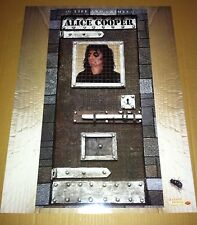 ALICE COOPER 1999 Double Sided PROMO POSTER for Life and Crimes CD USA MINT