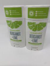 2 X Lot Schmidt's Bergamot Lime Natural Deodorant Vegan Cruelty Free 3.25 oz ea
