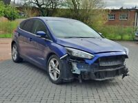2015 FORD FOCUS 1.0T ECOBOOST ZETEC 5 DOOR MANUAL PETROL BLUE SALVAGE DAMAGED