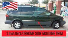 Flexible Chrome Side Door Molding Rocker Panel Trim Kit For SIENNA 1998-2003***