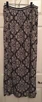 OLD NAVY Sz L Black Beige Southwest Pattern Flowing  Maxi Skirt