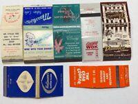 Lot Of 7 Vintage Restaurant Matchbook Covers ST PETERSBURG BOSTON OMAHA 20-354