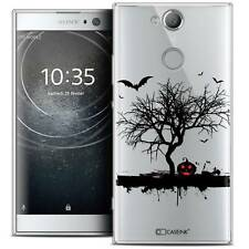 "Coque Crystal Gel Pour Sony Xperia XA2 (5.2"") Souple Halloween Devil's Tree"