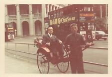 Rickshaw~Double Bus Advertisements~Ching San Beer~Standard Transistor Radio 1966