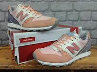 NEW BALANCE 996 LADIES UK 3 EU 35 PINK SILVER SUEDE TRAINERS RRP £85
