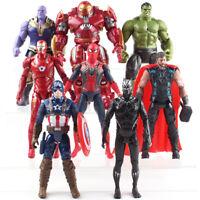 Marvel Avengers Infinity War Hulk Black Panther Thor Thanos PVC Figure Model Toy