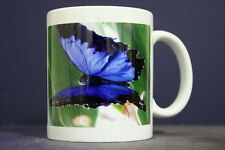 UNIQUE 350ml MUG WITH EMBEDDED IMAGE OF ORIGINAL PHOTOGRAPH:Ulysses Swallowtail