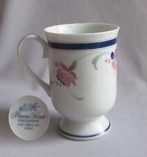 Pedestal Mug Princess House China Molesworth Fuchsia Pattern