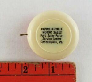 Vintage Connellsville Pennsylvania Ford Motor Sales Mini Plastic Tape Measure