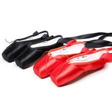 Women Girls Ballet Dance Shoes Soft Pointe Shoes Split Leather Flats Lace Up