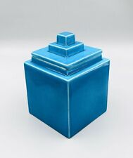 Boîte style art déco moderniste faïence Villeroy et Boch – bleu de Deck