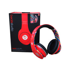 Beats Dr Dre Studio GENUINE headphones NOISE CANCEL LTD EDITION USA FRANCE COKE