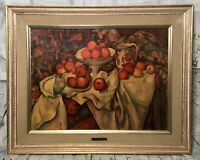 VIntage TURNER WALL ACCESSORY Paul Cezanne Apples & Oranges Framed Gold  #3896