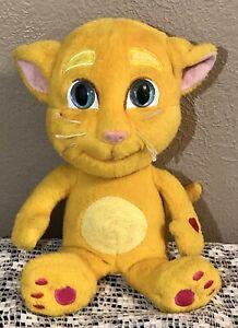 "RARE GINGER Talk Back Cat Talking Tom Toy-10"" Plush Repeats What You Say-EUC!"