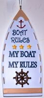 Boat Rules Personalized Christmas Tree Ornament